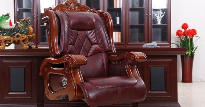 Достойный кожаный трон босса