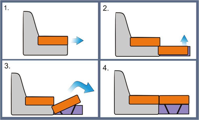 Схема раскладки дельфина