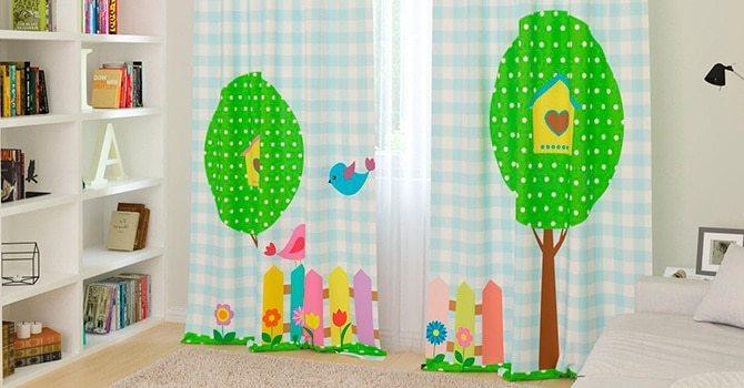 Специальные гардины для детской комнаты