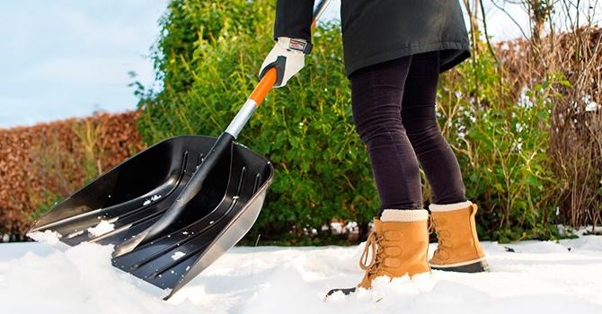Лопата для уборки снега, легкая и широкая