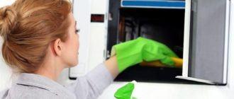 Как вымыть микроволновку начисто