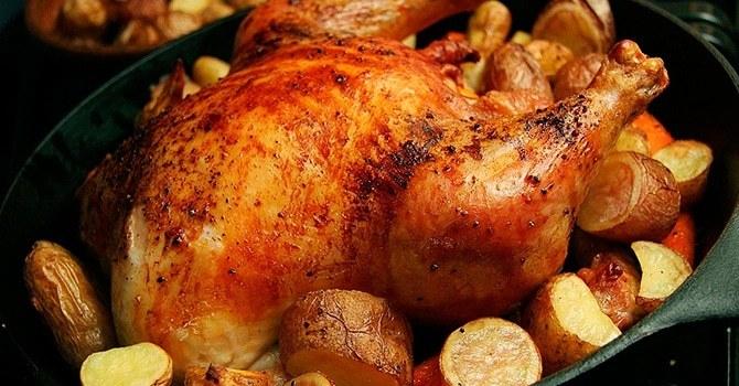 Курица запеченная в духовом шкафу