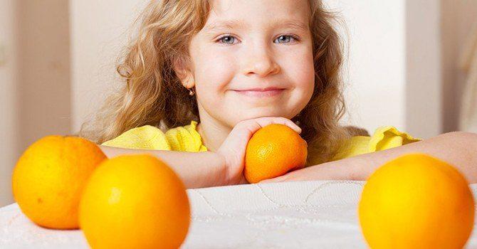 Польза цитрусовых для ребенка