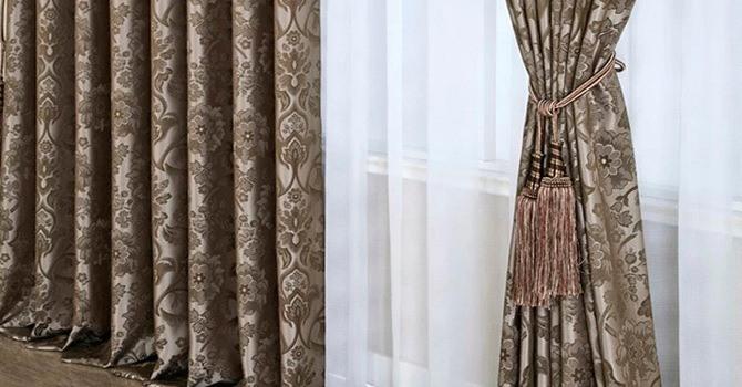 Жаккардовые тяжелые шторы
