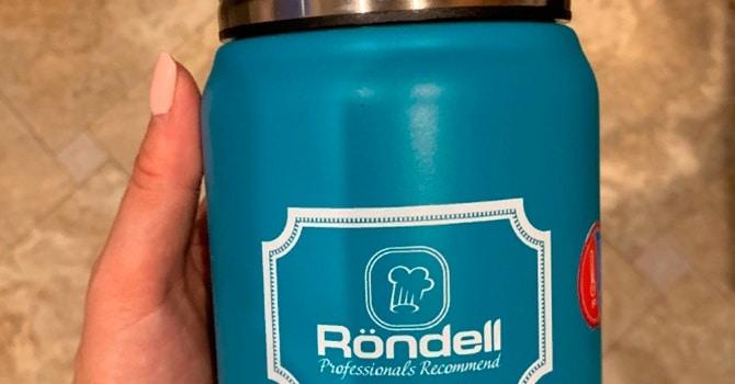 Термос для хранения пищи Rondell Picnic, бирюзовый