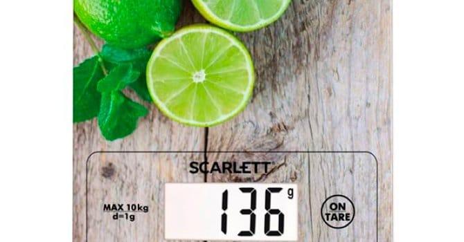 Весы с принтом Scarlett SC - KS57P21