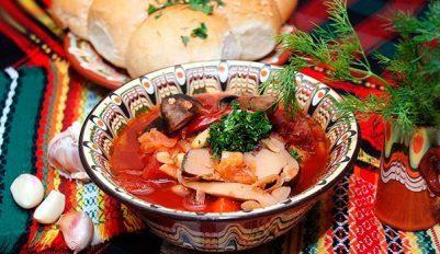 Рецепт борща с грибами