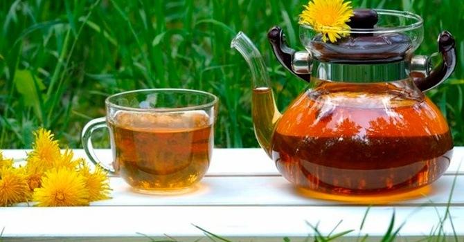 Целебный вкусный чай на цветках одуванчика