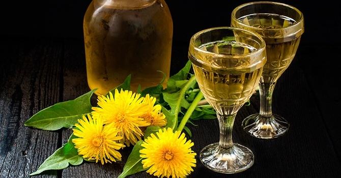 Домашнее натуральное вино из одуванчика
