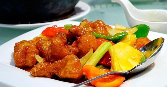 Свинина с ананасами по-китайски