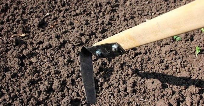 Плоскорез для рыхления почвы и удаления сорняков