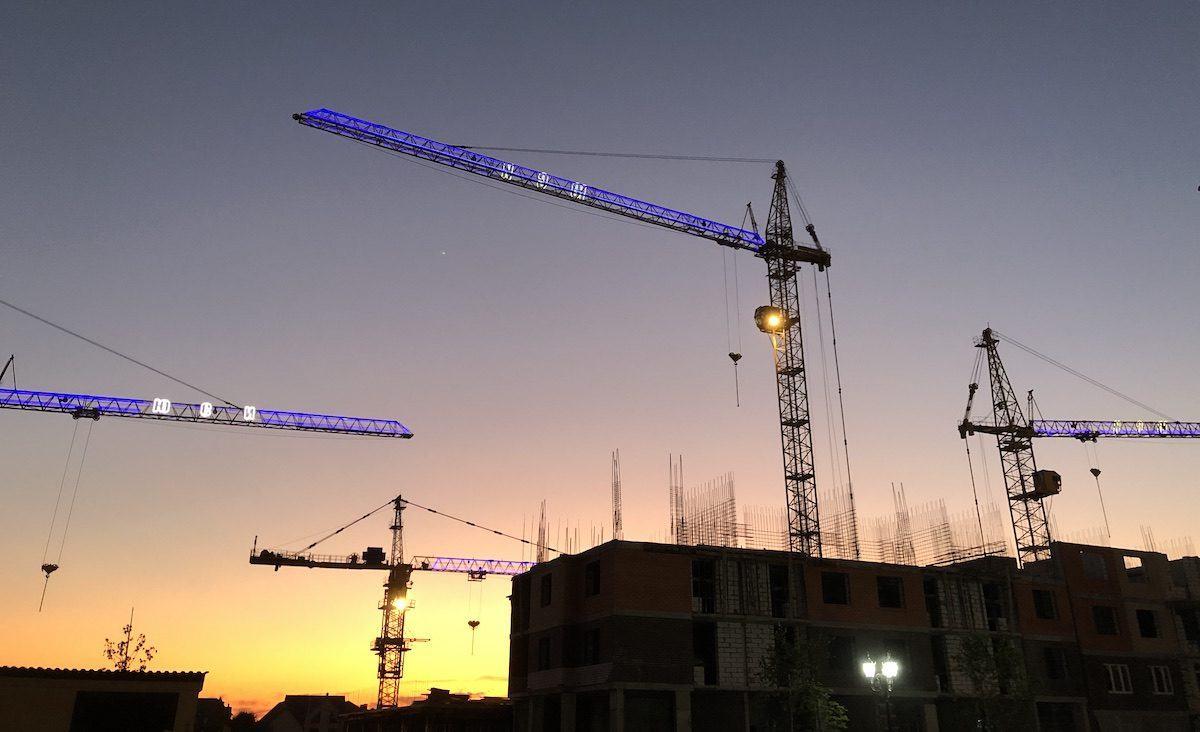 Строительство микрорайона Губернский