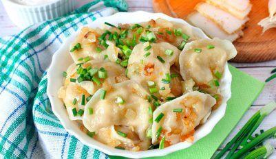 Вареники с картошкой и луком - простой рецепт