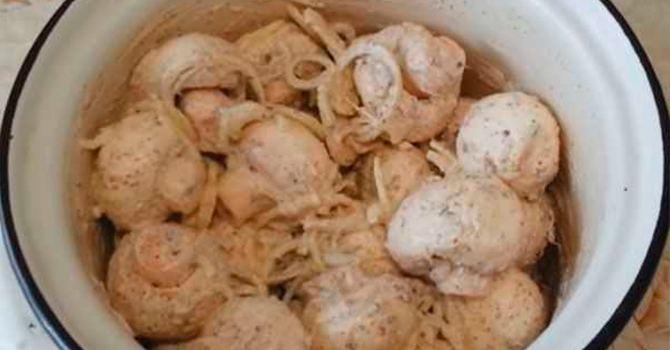 Маринованные грибы для шашлыка