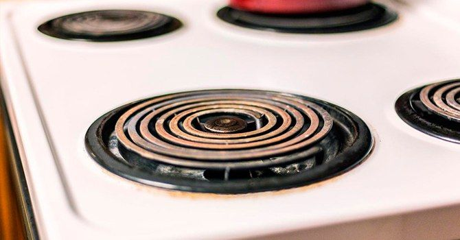 Эмалированный аппарат электрической плиты