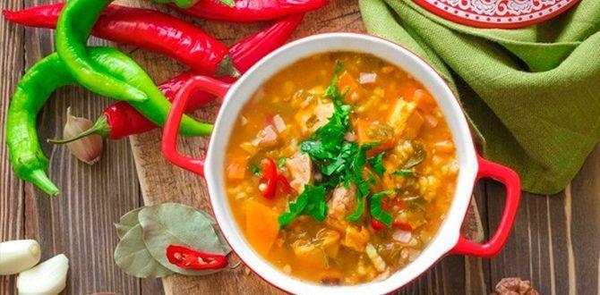 Харчо из курицы с рисом, как приготовить