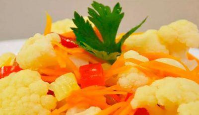 Маринованная цветная капуста на зиму - рецепт приготовления