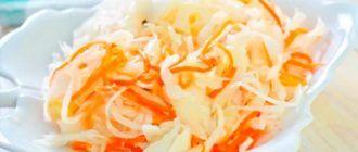 Маринованная вкусная хрустящая капуста