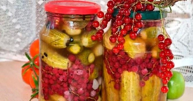 С ягодами красной смородины