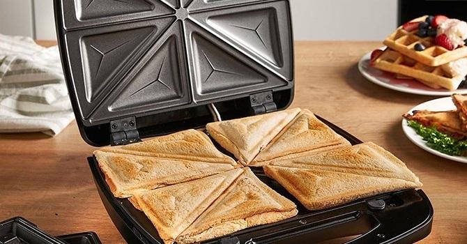 Сэндвичница с 8 разъёмами более удобна