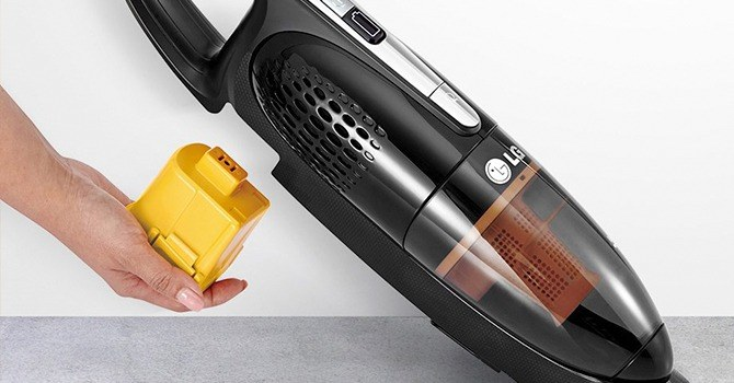 Беспроводной пылесос со съемным аккумулятором