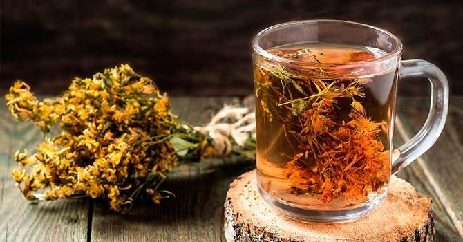 Травяной чай со зверобоем