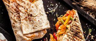 Вегетарианская шаурма, ее отличия от классической