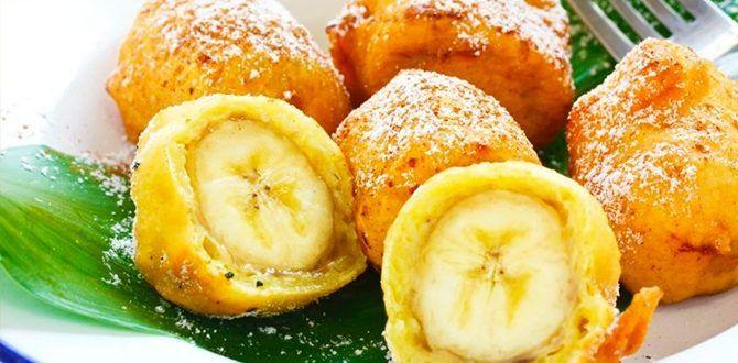 Бананы в кляре по простому рецепту