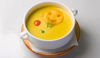 Гороховый суп-пюре постный, без мяса
