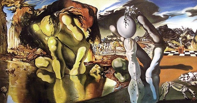 """Картина великого художника Сальвадора Дали """"Метаморфозы Нарцисса"""""""