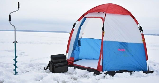 Палатка от ветра для зимней рыбалки
