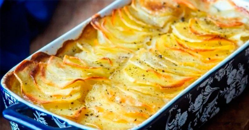 Гратен картофельный - рецепт приготовления