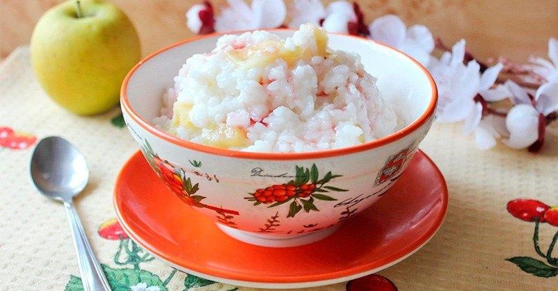 Рисовая каша из круглозерной крупы