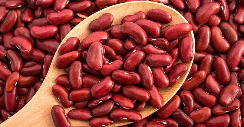 Красные зерна фасоли