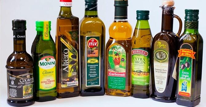 Некоторые популярные марки масла оливы