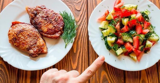 Отказ от мясных продуктов в пользу овощей
