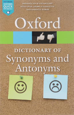 "Книга по английскому языку ""The Oxford dictionary of synonyms and antonyms"""