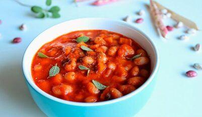 Томатный суп с фасолью, быстрый пошаговый рецепт
