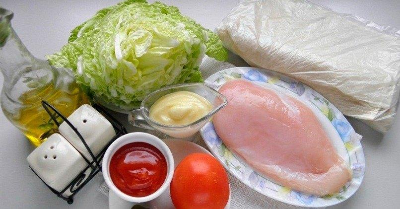 Традиционный состав продуктов для шаурмы