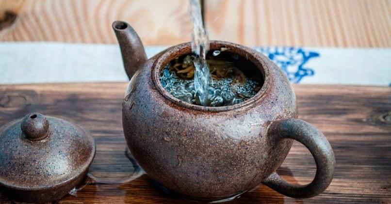 Заваривание в чайнике кипятком