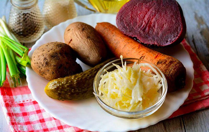 Венигрет или винегрет рецепт с квашеной капустой