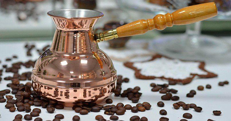 Медная турка для варки кофе
