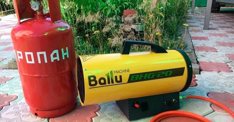 Пушка на сжиженном газе из баллона