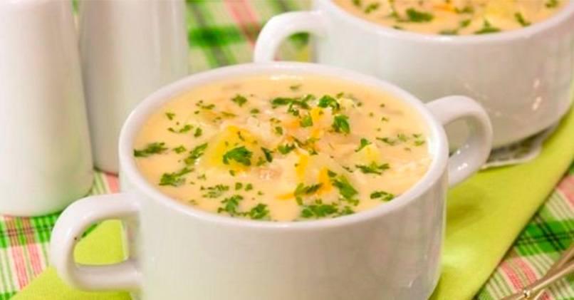Суп с консервированной горбушей и сливками