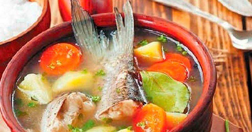 Суп с консервированной горбушей в мультиварке с пшеном