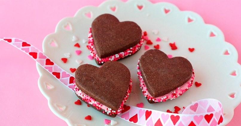 Десерт Шоколадные сердечки
