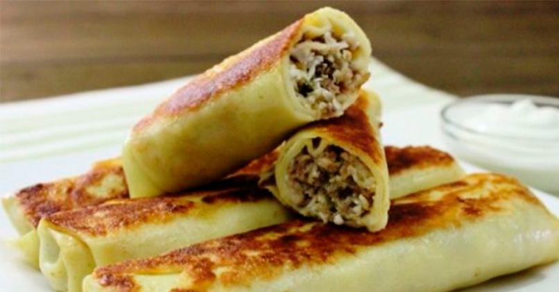 Классический рецепт блинов с мясом