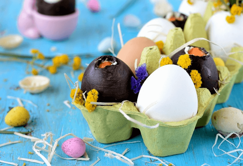 Пирожное пасхальные яйца