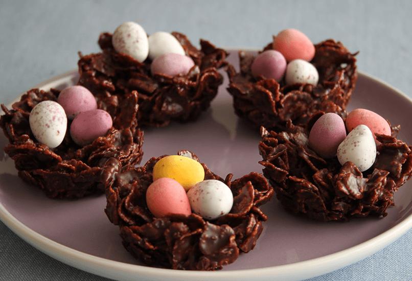 Шоколадные гнезда на пасху