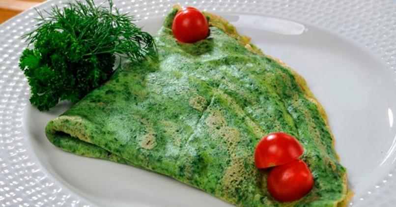 Зеленые блины